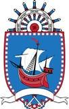 Θαλάσσιο έμβλημα, κάλυψη των όπλων Στοκ εικόνα με δικαίωμα ελεύθερης χρήσης