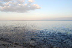 θαλάσσιο δέντρο ηλιοβασιλέματος τοπίων κλάδων παραλιών ανασκόπησης Στοκ εικόνες με δικαίωμα ελεύθερης χρήσης