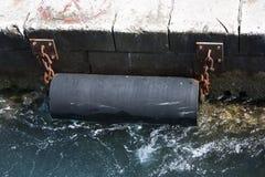 Θαλάσσιο λαστιχένιο κιγκλίδωμα Στοκ φωτογραφίες με δικαίωμα ελεύθερης χρήσης