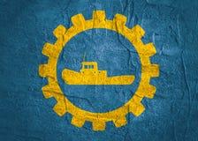 Θαλάσσιο εικονίδιο ρυμουλκών στο εργαλείο Στοκ εικόνα με δικαίωμα ελεύθερης χρήσης