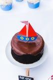 Θαλάσσιο κέικ σοκολάτας Στοκ Φωτογραφία