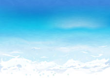 Θαλάσσιο νερό με τον κυματισμό Στοκ φωτογραφία με δικαίωμα ελεύθερης χρήσης
