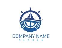 Θαλάσσιο λογότυπο έννοιας Στοκ Εικόνες