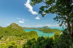 Θαλάσσιο πάρκο: Θαλάσσια εθνική άποψη πάρκων AngThong Στοκ φωτογραφίες με δικαίωμα ελεύθερης χρήσης