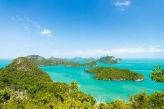 Θαλάσσιο πάρκο: Θαλάσσια εθνική άποψη πάρκων AngThong Στοκ Εικόνες