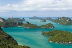 Θαλάσσιο πάρκο: Θαλάσσια εθνική άποψη πάρκων AngThong Στοκ Φωτογραφίες