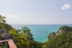 Θαλάσσιο πάρκο: Θαλάσσια εθνική άποψη πάρκων AngThong Στοκ φωτογραφία με δικαίωμα ελεύθερης χρήσης