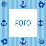 Θαλάσσιο πλαίσιο σχεδίων Στοκ φωτογραφία με δικαίωμα ελεύθερης χρήσης