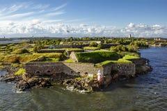Θαλάσσιο φρούριο Suomenlinna στα νησιά στο λιμάνι του Χ Στοκ Εικόνες