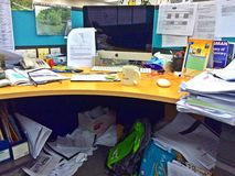 Θαλαμίσκος γραφείων - εργασιακός χώρος στοκ φωτογραφία