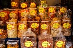 Θαλασσινά που συσκευάζονται ξηρά στις τσάντες για την πώληση Στοκ εικόνες με δικαίωμα ελεύθερης χρήσης