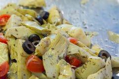 Θαλασσινά σουσιών στενό στον επάνω εστιατορίων Γαρίδες, φύκι και χαβιάρι βασιλιάδων για τα gourmets Στοκ Εικόνα