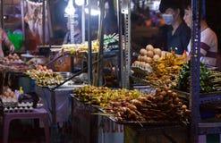 θαλασσινά στην αγορά νύχτας στο νησί Phu Quoc Στοκ Φωτογραφίες