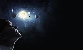 Θα είμαι αστροναύτης Στοκ εικόνες με δικαίωμα ελεύθερης χρήσης