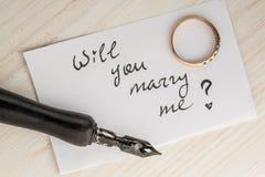 Θα με παντρεψετε; Στοκ Φωτογραφία
