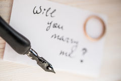 Θα με παντρεψετε; Στοκ Φωτογραφίες