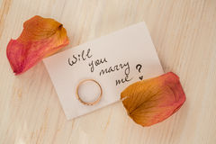 Θα με παντρεψετε; Στοκ Εικόνες