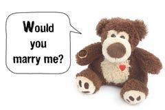 Θα με παντρεύατε; Στοκ Φωτογραφίες