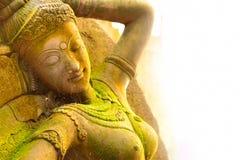 Θεά στόκων ιερή με το πράσινο βρύο στοκ φωτογραφίες με δικαίωμα ελεύθερης χρήσης