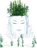 Θεά του δάσους Διανυσματική απεικόνιση