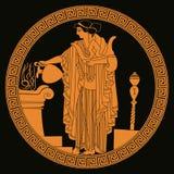 Θεά Aphrodite αρχαίου Έλληνα διανυσματική απεικόνιση