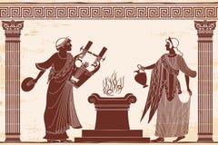 Θεά Aphrodite αρχαίου Έλληνα ελεύθερη απεικόνιση δικαιώματος