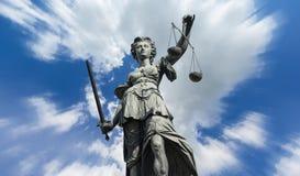 Θεά Justitia δικαιοσύνης στοκ φωτογραφίες με δικαίωμα ελεύθερης χρήσης