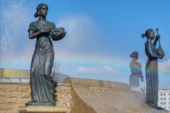 Θεές που κολυμπούν στο ύπαιθρο στοκ φωτογραφίες με δικαίωμα ελεύθερης χρήσης