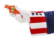 Θείος Σαμ και πυροβόλο όπλο Στοκ Εικόνα
