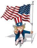 Θείος Σαμ σας θέλω - αμερικανική σημαία Στοκ Εικόνες