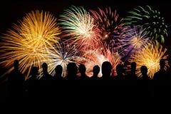 Θεαματικά πυροτεχνήματα Στοκ εικόνες με δικαίωμα ελεύθερης χρήσης
