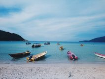 Θεαματική άποψη και καλά vibes στο Λονγκ Μπιτς, Pulau Perhentian, Μαλαισία στοκ εικόνα