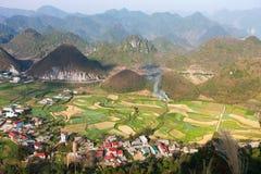 Θεαματική άποψη στην πύλη ουρανού ` s, πέρασμα BA Quan, βόρειο Βιετνάμ στοκ φωτογραφίες με δικαίωμα ελεύθερης χρήσης