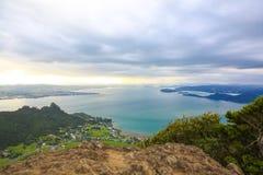 Θεαματική άποψη του λιμανιού Whangarei από την ΑΜ Manaia, NZ Στοκ Εικόνα