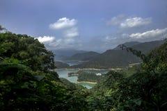 Θεαματική άποψη χιλιάες νησιού λιμνών στη νέα Ταϊπέι, Ταϊβάν στοκ φωτογραφία με δικαίωμα ελεύθερης χρήσης