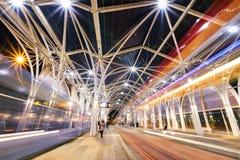 Θεαματική σύγχρονη αρχιτεκτονική στην πόλη του Λοντζ, Πολωνία, ΕΥΡ Στοκ Φωτογραφίες