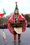 Θεαματικός μίμος με προσωπείο καρναβαλιού Στοκ Φωτογραφία