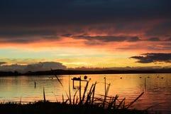 θεαματικό ηλιοβασίλεμα Στοκ Φωτογραφία