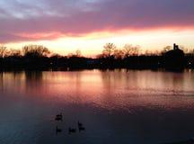 θεαματικό ηλιοβασίλεμα Στοκ εικόνα με δικαίωμα ελεύθερης χρήσης