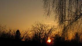 θεαματικό ηλιοβασίλεμα Στοκ Εικόνες
