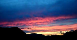θεαματικό ηλιοβασίλεμα Στοκ φωτογραφίες με δικαίωμα ελεύθερης χρήσης