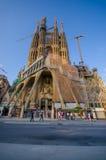 Θεαματικό Λα Sagrada Familia εκκλησιών της Βαρκελώνης Στοκ Εικόνα