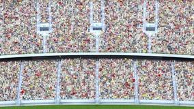 Θεατές στο στάδιο τρισδιάστατη απόδοση Στοκ Εικόνες