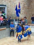Θεατρικά πρωταθλήματα ιπποτών στο παλαιό στρέμμα, Ισραήλ Στοκ Εικόνες