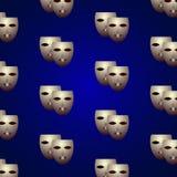 Θεατρικές μάσκες Στοκ Εικόνα