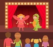 Θεατρική απόδοση παιδιών ` s Στοκ φωτογραφία με δικαίωμα ελεύθερης χρήσης