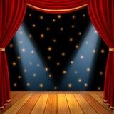 Θεατρικό στάδιο σκηνής Στοκ Φωτογραφία