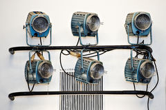 Θεατρικό σύστημα επικέντρων φωτισμού Στοκ Φωτογραφία