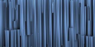 Θεατρικό υπόβαθρο με τη σύνθεση των μπλε και μεταλλικών σωλήνων στοκ φωτογραφίες