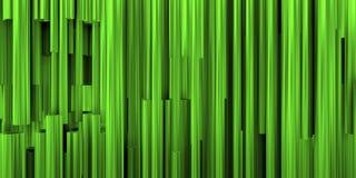 Θεατρικό υπόβαθρο με τη σύνθεση των πράσινων και μεταλλικών σωλήνων στοκ εικόνες